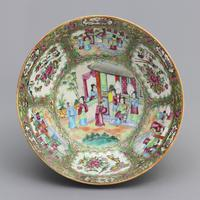 19th Century Cantonese Famille Rose Porcelain Bowl c.1880 (4 of 8)
