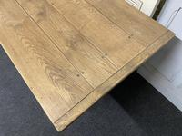 Bleached Oak Farmhouse Refectory Dining Table (8 of 22)
