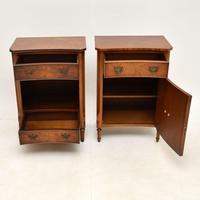 Pair of Georgian Style Burr Walnut Bedside Cabinets c.1930 (6 of 11)