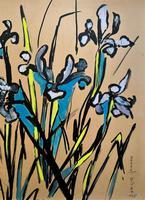 Large Beautiful 1958 Vintage Impressionist Floral Still Life Oil Painting (3 of 12)