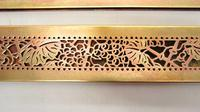 "Pair Tiffany Studios 12"" Brass Plated Desk Set  Blotter Ends 998  Grapevine (12 of 15)"