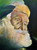 Early 1900s Oil Portrait Painting of Elderly Bearded Indian Gent (4 of 12)