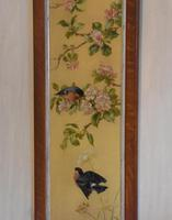 Pair of Oil Paintings of Finches in Blossom (11 of 12)