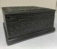 Antique Anglo Indian Hand Carved Wooden Box c.1895 (4 of 7)