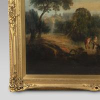 Early 19th Century Large Oil on Canvas of Mother and Children (3 of 4)