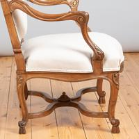 Pair of Large French Walnut & Parcel-Gilt Armchairs (9 of 10)