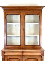 Antique Victorian Mahogany Glazed Bookcase (4 of 9)