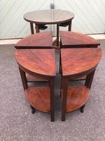 Edwardian Mahogany Round Nest of 5 Tables (5 of 9)