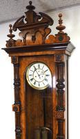 Rare Impressive Antique Burr Walnut 8-Day Twin Weight Striking Vienna Regulator Wall Clock by Gustav Becker (6 of 13)