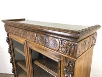 Victorian Glazed Oak Cabinet with Carved Detail (10 of 10)