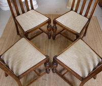Oak Gateleg Dining Table & 4 Chairs Arts Crafts (5 of 17)