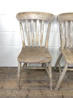 Set of Four Antique Farmhouse Kitchen Chairs (15 of 15)