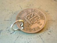 Vintage Pocket Watch Chain Fob 1948 Lucky Silver Sixpence Old 6d Coin Fob (7 of 8)