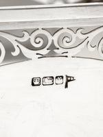 Antique Octagonal Walker & Hall Silver Rose Bowl (4 of 5)