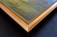 Original 20th Century Vintage English Farmland Country Landscape Oil on Canvas Painting (13 of 14)