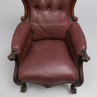 Victorian Leather Library Chair (2 of 5)