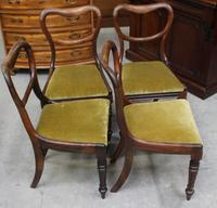 1940's Mahogany Set 4 Heart shape Dining chairs with Pop out Seats (3 of 3)