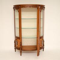Antique Italian Walnut Display Cabinet (3 of 11)