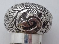 Edwardian Bailiff Walking Stick Cane 1903 Solid Silver Pommel Malacca Shaft (8 of 11)