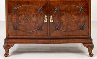 Burr Walnut Serpentine Chest / Cabinet (6 of 9)