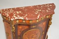 Antique French Inlaid Marquetry  Marble Top Cabinet (6 of 12)