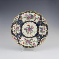 First Period Worcester Porcelain Blue Scale Junket Dish c.1770 (2 of 7)