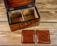 Twin Burr Walnut Tea Caddy 1870 (9 of 9)