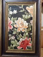 Late 19th Century Framed Silk Embroidery