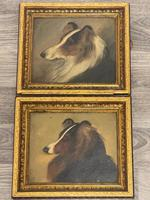 Pair of Scottish 19th Century Oil Paintings Rough Collie Dog Portraits After George Washington Brownlow (6 of 49)