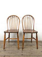 Pair of Antique Hoop Back Farmhouse Chairs (5 of 13)