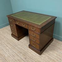 Quality Oak Victorian Antique Pedestal Desk (6 of 8)