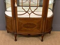 Inlaid Mahogany Display Cabinet by Jas Shoolbred (8 of 14)