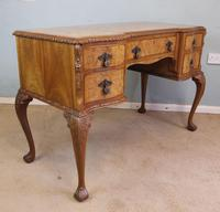 Antique Serpentine Shaped Burr Walnut Side Table (8 of 13)