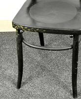 Bentwood Vintage Ebony / Black Floral Print Chair (5 of 9)