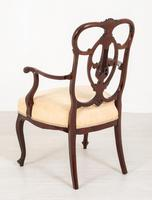 Elegant Mahogany Chippendale Style Carver Chair (3 of 7)