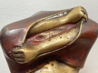 """Art Deco French Cold Painted Gilt Bronze Posing """"Mystery Nude Lady"""" c.1930 (15 of 41)"""