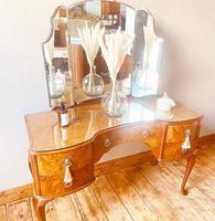 Burr Walnut Dressing Table / Vanity / Sideboard (4 of 6)