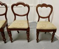 4 Victorian Mahogany Balloon Back Dining Chairs (5 of 6)