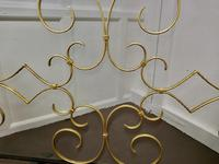 4ft Iron and Gilt Fire Guard for Inglenook Fireplace (5 of 5)