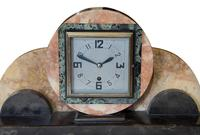 Onyx Art Deco Clock Set including sconces (2 of 3)