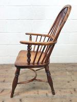 Antique Windsor Armchair in Elm & Ash (7 of 12)