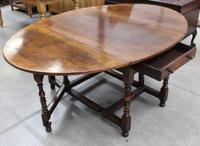 Titmarsh and Goodwin Mahogany Gateleg Table with Drawer
