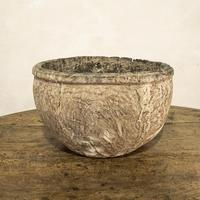 Large 18th Century Swedish Carved Wooden Burl Root - Knot Bowl