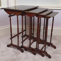 Stunning 19th Century Mahogany Nest of Four Tables (3 of 7)