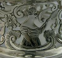 Rare English Solid Sterling Silver Potato Dish Ring London 1917 Antique (8 of 12)