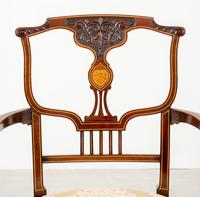 Very Pretty Art Nouveau Mahogany Elbow Chair (10 of 10)