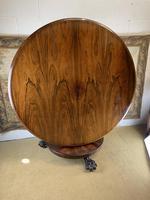 English Regency Rosewood Tilt Top Centre Table (2 of 7)