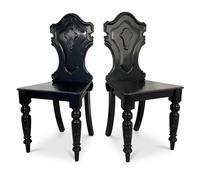 Ebonised Hall Chairs (4 of 4)