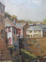 Oil on Canvas Cornish Harbour View Listed Artist Dora Johns 1966 (5 of 10)