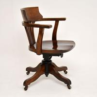 Antique Victorian Swivel Desk  Chair (8 of 12)